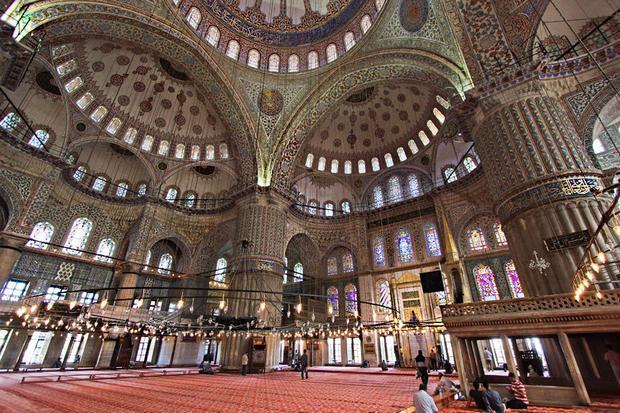 زخارف جامع السلطان احمد اسطنبول