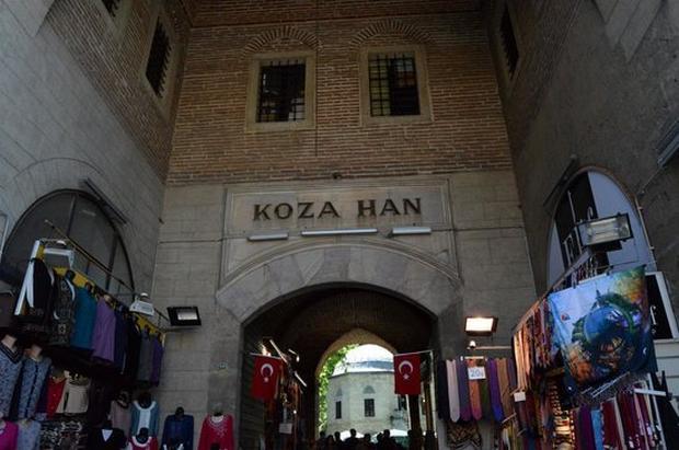 كوزا خان في بورصة - اسواق مدينة بورصة التركية