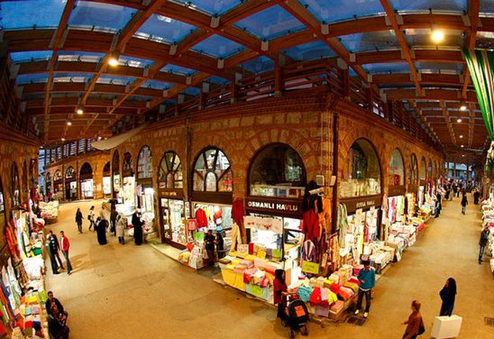 السوق المسقوف بورصة -اسواق مدينة بورصة التركية