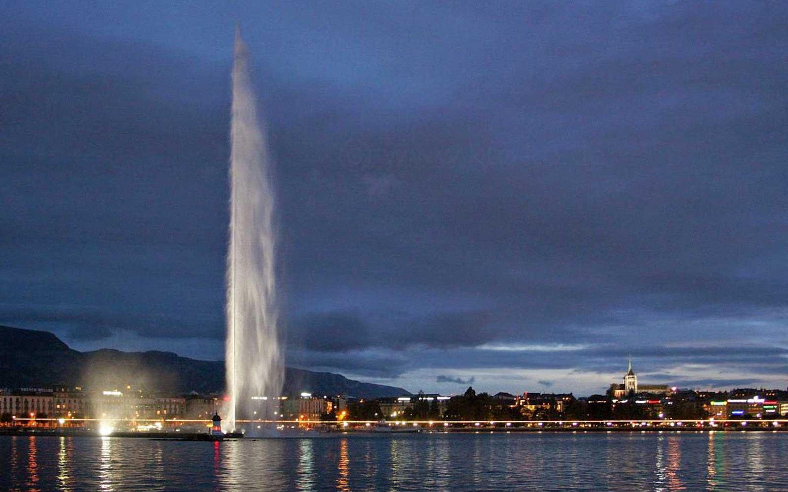 نافورة جنيف - الاماكن السياحية في سويسرا