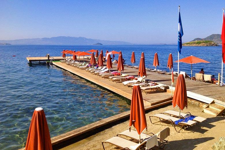 نتيجة بحث الصور عن شاطئ فينك مدينة بودروم تركيا