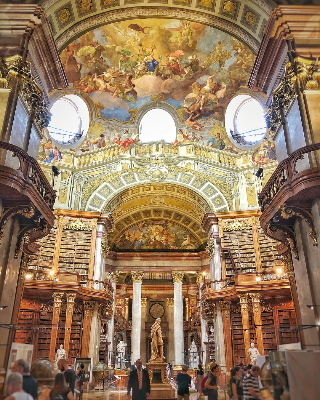 المكتبة الوطنية النمساوية - اهم الاماكن السياحية في فيينا