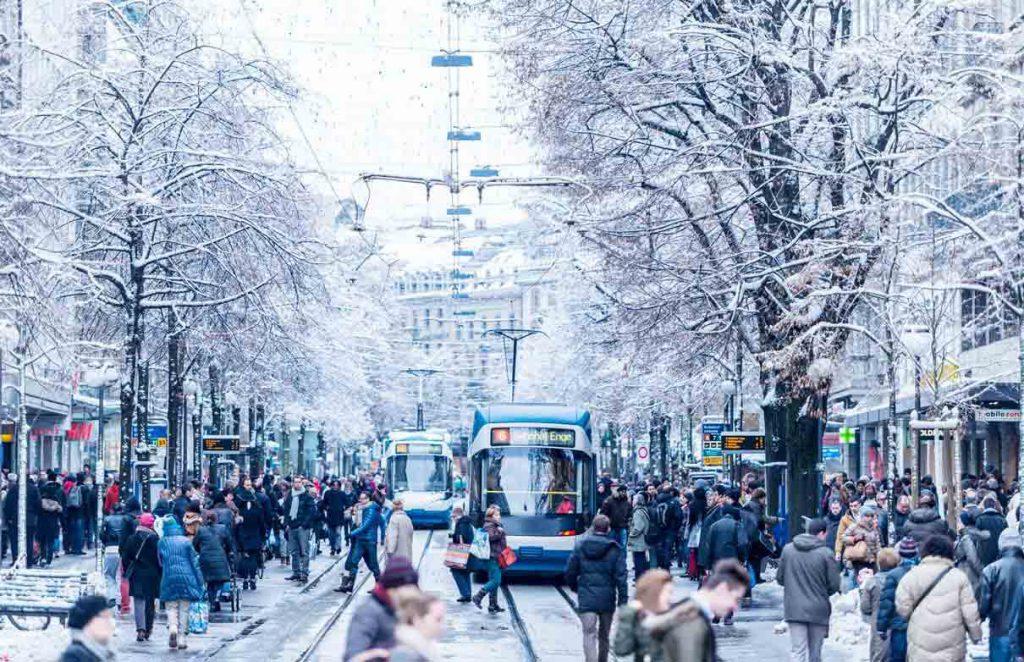 زيورخ في الشتاء