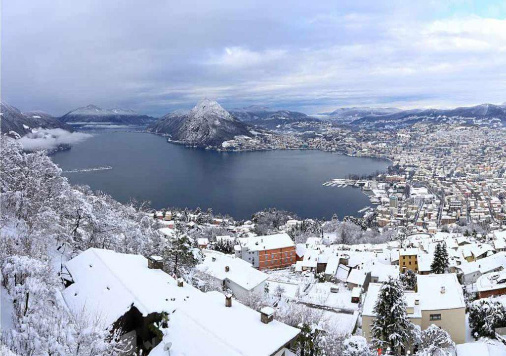الشتاء في سويسرا